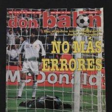 Coleccionismo deportivo: FÚTBOL DON BALÓN 1183 - ESPAÑA MUNDIAL 98 - POSTER KIKO - MORIENTES - FRANCIA - PARAGUAY - AS MARCA. Lote 207124352