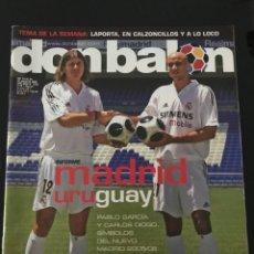 Coleccionismo deportivo: FÚTBOL DON BALÓN 1553 - POSTER SÃO PAULO - BENJAMÍN - MADRID - VALLADOLID - ZARAGOZA - JUNINHO. Lote 207125192