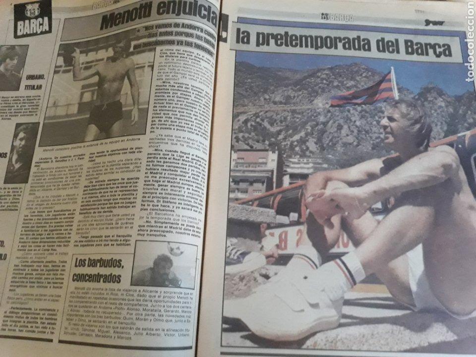 Coleccionismo deportivo: DIARIO SPORT 1983 . LOS CAÑONES DEL BARCELONA CARRASCO, MARADONA ,MARCOS .MARAÑON , SABADELL-ESPAÑOL - Foto 2 - 207157615