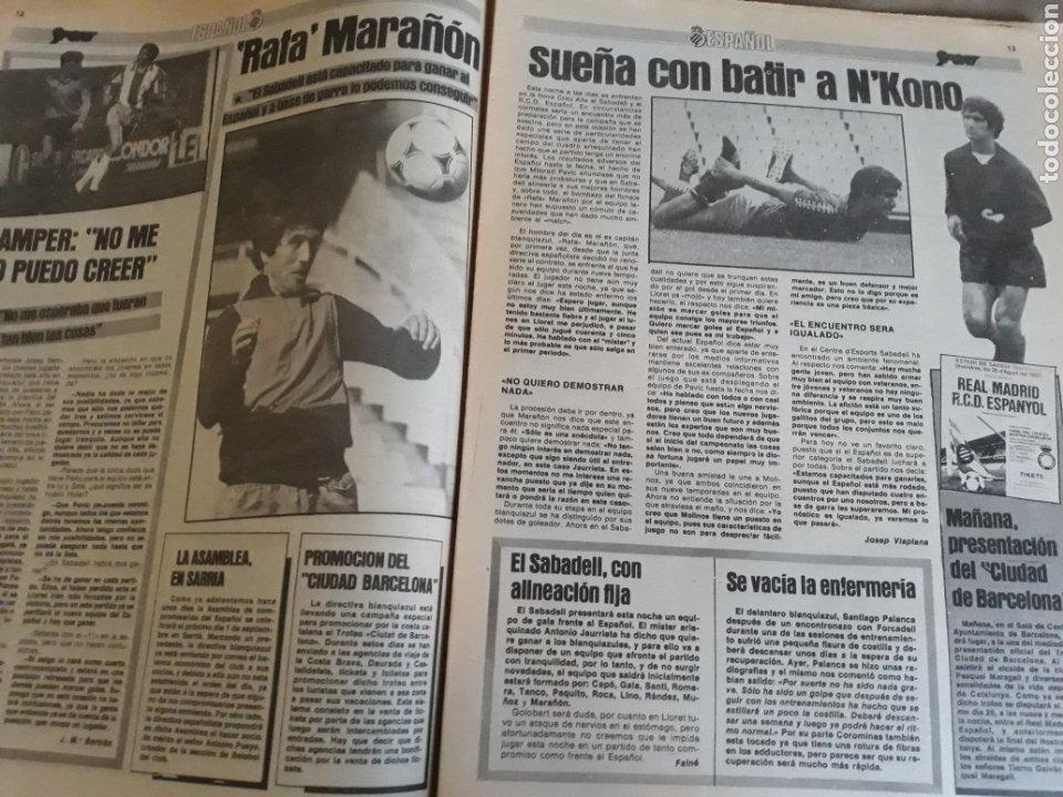 Coleccionismo deportivo: DIARIO SPORT 1983 . LOS CAÑONES DEL BARCELONA CARRASCO, MARADONA ,MARCOS .MARAÑON , SABADELL-ESPAÑOL - Foto 4 - 207157615