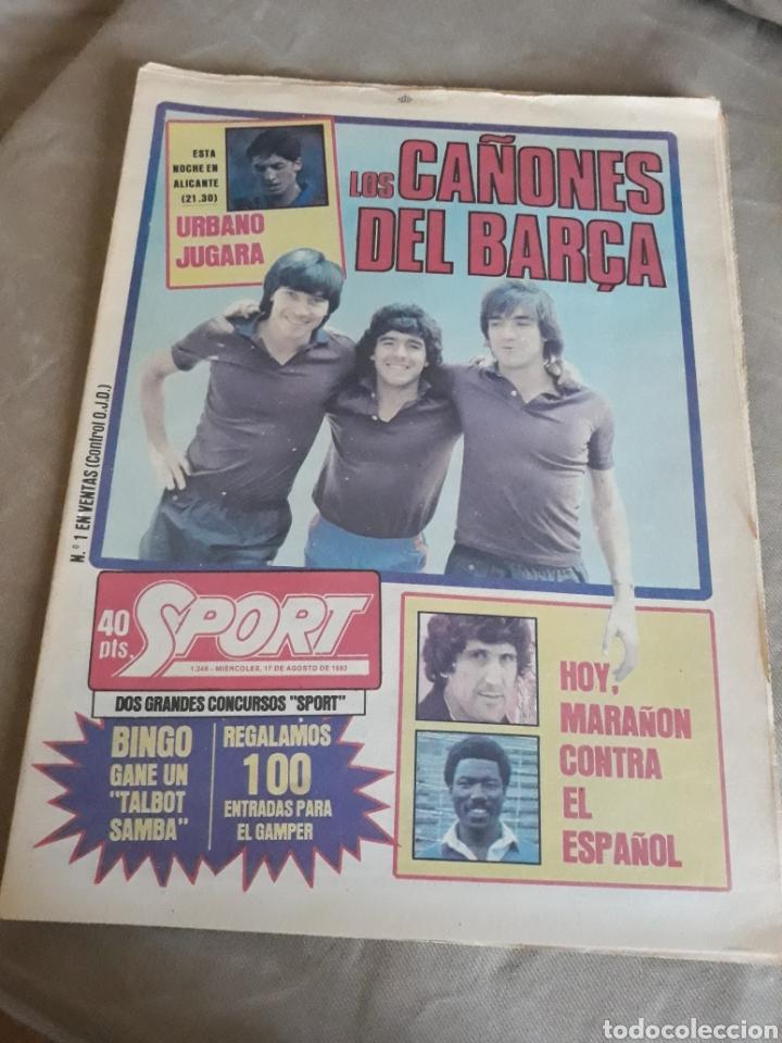 DIARIO SPORT 1983 . LOS CAÑONES DEL BARCELONA CARRASCO, MARADONA ,MARCOS .MARAÑON , SABADELL-ESPAÑOL (Coleccionismo Deportivo - Revistas y Periódicos - Sport)