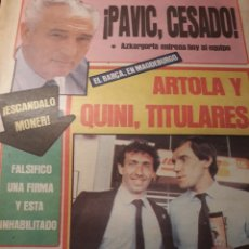 Coleccionismo deportivo: DIARIO SPORT AÑO 1983 .QUINI Y ARTOLA EL BARCA EN MAGDEBURGO . PAVIC CESADO . AZKARGORTA .. Lote 207197386