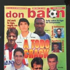 Coleccionismo deportivo: FÚTBOL DON BALÓN 1145 - POSTER ESPANYOL - CAÑIZARES - AGUILERA - RAMIS - COPAS EUROPEAS - RAÚL. Lote 207212648