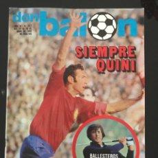 Coleccionismo deportivo: FÚTBOL DON BALÓN 237 - QUINI - ESPAÑA - SPORTING - ALONSO R. SOCIEDAD - ALAVÉS - SUBIRATS MARCELINO. Lote 207225352