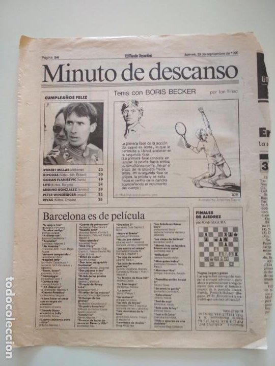 Coleccionismo deportivo: RECORTES DE LA SERIE TENIS CON BORIS BECKER POR ION TIRIAC DE MUNDO DEPORTIVO - Foto 2 - 207249422