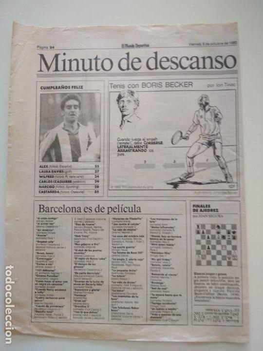Coleccionismo deportivo: RECORTES DE LA SERIE TENIS CON BORIS BECKER POR ION TIRIAC DE MUNDO DEPORTIVO - Foto 5 - 207249422