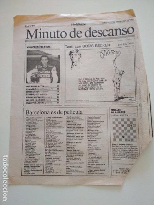 Coleccionismo deportivo: RECORTES DE LA SERIE TENIS CON BORIS BECKER POR ION TIRIAC DE MUNDO DEPORTIVO - Foto 6 - 207249422