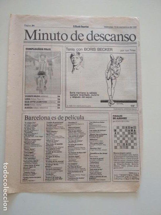 Coleccionismo deportivo: RECORTES DE LA SERIE TENIS CON BORIS BECKER POR ION TIRIAC DE MUNDO DEPORTIVO - Foto 7 - 207249422