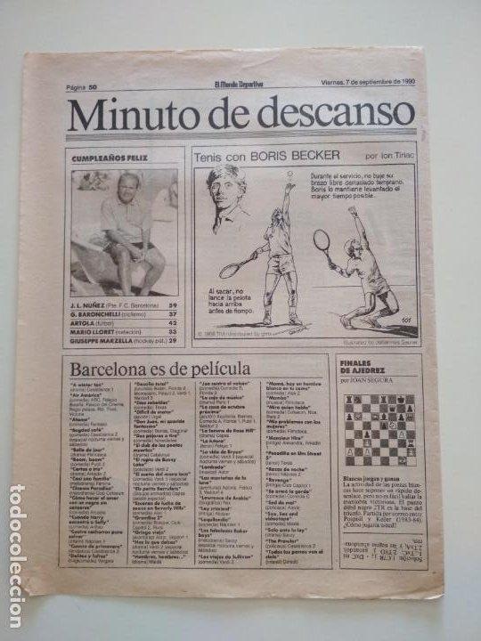 Coleccionismo deportivo: RECORTES DE LA SERIE TENIS CON BORIS BECKER POR ION TIRIAC DE MUNDO DEPORTIVO - Foto 8 - 207249422