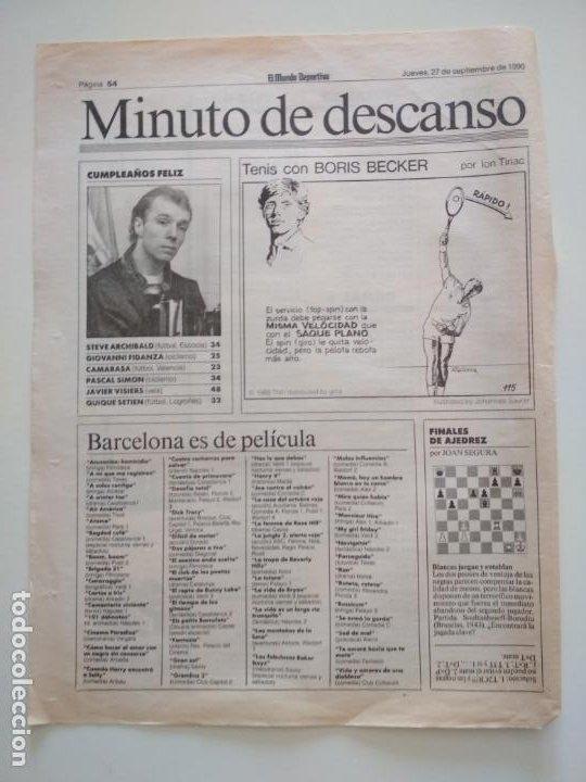 Coleccionismo deportivo: RECORTES DE LA SERIE TENIS CON BORIS BECKER POR ION TIRIAC DE MUNDO DEPORTIVO - Foto 11 - 207249422