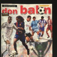 Coleccionismo deportivo: FÚTBOL DON BALÓN 1454 - POSTER OLIVEIRA - VILLARREAL - FIGO - CALCIO ITALIA - MALLORCA SUPERCOPA. Lote 207258476