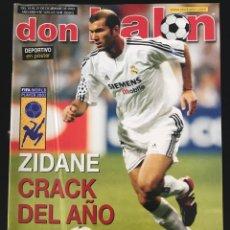 Coleccionismo deportivo: FÚTBOL DON BALÓN 1470 - POSTER DEPORTIVO - ZIDANE - LILLO - BOCA - MILÁN - COPAS EUROPEAS - AS. Lote 207260506