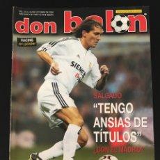 Coleccionismo deportivo: FÚTBOL DON BALÓN 1462 - POSTER RACING - SALGADO - OSASUNA - RONALDINHO - MALLORCA ESPAÑA STOICHKOV. Lote 207260876