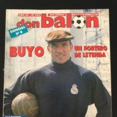 Coleccionismo deportivo: FÚTBOL DON BALÓN 988 - POSTER RADUCIOIU ESPANYOL - BUYO - MAZINHO - BARCELONA - BETIS - COPAS EUROPE. Lote 207264417