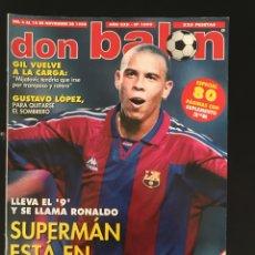 Coleccionismo deportivo: FÚTBOL DON BALÓN 1099 - POSTER EXTREMADURA - RONALDO - GIL - ZARAGOZA - VALLADOLID - COPAS EUROPEAS. Lote 207266126