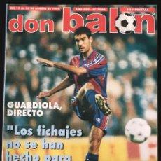 Coleccionismo deportivo: FÚTBOL DON BALÓN 1088 - GUARDIOLA - SEVILLA - RIVALDO - KANU - AJAX - AS MARCA ALBUM CROMO. Lote 207272698