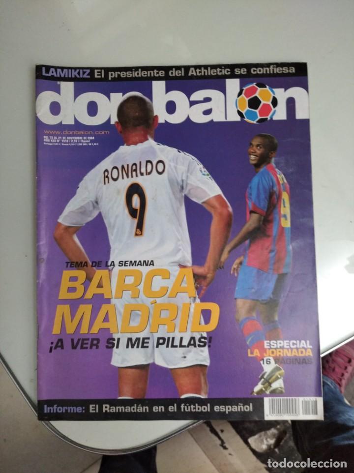 Coleccionismo deportivo: REVISTA DON BALON, BARCA -REAL MADRID, A VER SI ME PILLAS - Foto 2 - 163743830