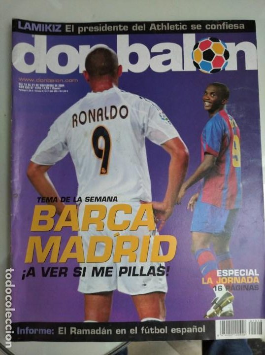 Coleccionismo deportivo: REVISTA DON BALON, BARCA -REAL MADRID, A VER SI ME PILLAS - Foto 3 - 163743830
