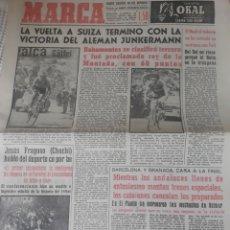 Coleccionismo deportivo: DIARIO MARCA DEL 19 DE JUNIO DE 1959 . FINAL DE COPA BARCELONA - GRANADA , CARA A LA FINAL .. Lote 207333147