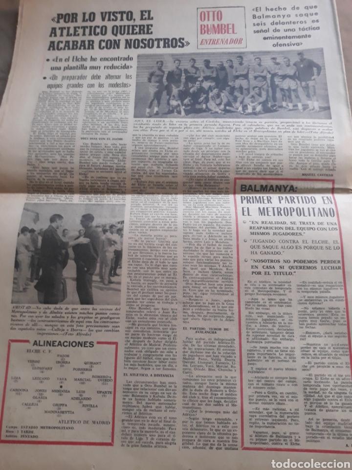 Coleccionismo deportivo: MARCA AÑO1965 .MIGUEL MAS CAMPEON DEL MUNDO - AT.MADRID - ELCHE .DEBUTA BALMANYA EN EL METROPOLITANO - Foto 2 - 207373631