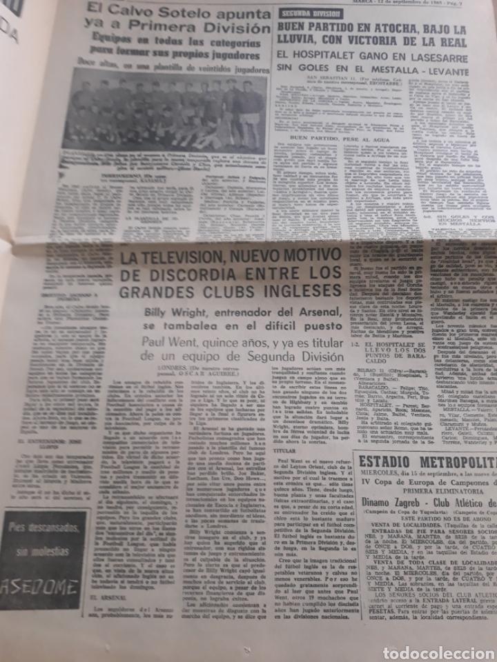 Coleccionismo deportivo: MARCA AÑO1965 .MIGUEL MAS CAMPEON DEL MUNDO - AT.MADRID - ELCHE .DEBUTA BALMANYA EN EL METROPOLITANO - Foto 3 - 207373631