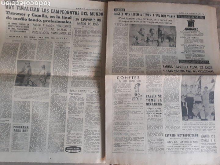 Coleccionismo deportivo: MARCA AÑO1965 .MIGUEL MAS CAMPEON DEL MUNDO - AT.MADRID - ELCHE .DEBUTA BALMANYA EN EL METROPOLITANO - Foto 4 - 207373631