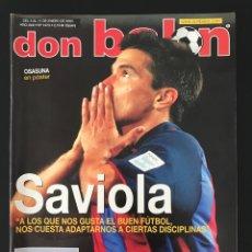 Coleccionismo deportivo: FÚTBOL DON BALÓN 1473 - POSTER OSASUNA - SAVIOLA - BETIS - RAÚL - DEPORTIVO - KOEMAN - LEVANTE - AS. Lote 207375041