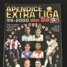 Coleccionismo deportivo: FÚTBOL DON BALÓN - APÉNDICE EXTRA LIGA 99-2000 - AS MARCA ALBUM CROMO. Lote 207423202