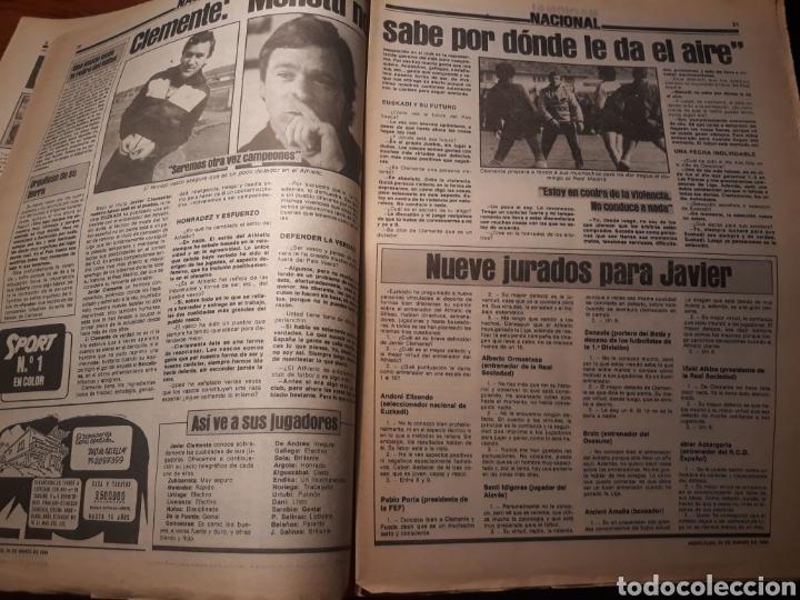 Coleccionismo deportivo: SPORT 28-3- 1984 MENOTTI RENOVARA ,TENDILLO, CLOS , AMARILLA , CLEMENTE, URBANO ,PERE CASACUBERTA, - Foto 4 - 207438107