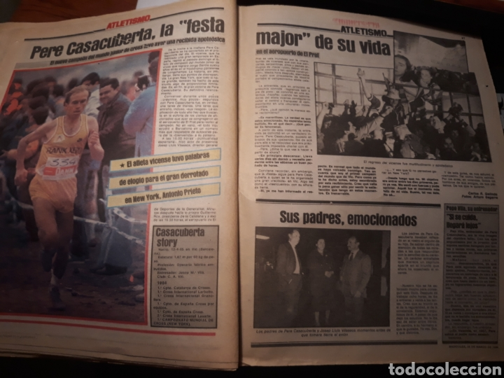 Coleccionismo deportivo: SPORT 28-3- 1984 MENOTTI RENOVARA ,TENDILLO, CLOS , AMARILLA , CLEMENTE, URBANO ,PERE CASACUBERTA, - Foto 6 - 207438107