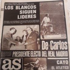 Coleccionismo deportivo: AS 11-10-1982. DE CARLOS PRESIDENTE - REAL MADRID 1 MALAGA 0 .ATH BILBAO 4 AT MADRID 1. Lote 207449150