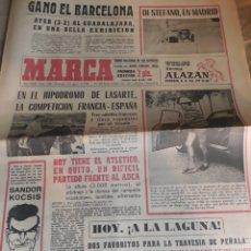 Coleccionismo deportivo: MARCA 2-8-1964 .DI STEFANO ,EN MADRID . TRAVESIA A LA LAGUNA DE PEÑALARA, HILARIO MARTÍNEZ BOXEADOR. Lote 207464422