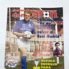 Coleccionismo deportivo: REVISTA DON BALON NÚMERO 1016 3-9 ABRIL 1995 PÓSTER AMAVISCA REAL MADRID PROSINECKI ZARAGOZA-CHELSEA. Lote 207490046