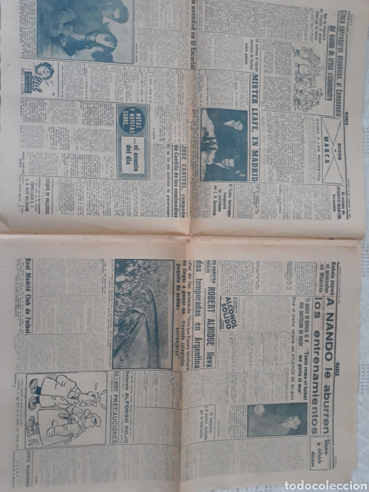 Coleccionismo deportivo: MARCA 17-2-1951 . ESPAÑA - SUIZA . AMISTOSO EN MADRID . BALOMPEDICA LINENSE APLAZA SU ASCENSO A 1°. - Foto 2 - 207500570