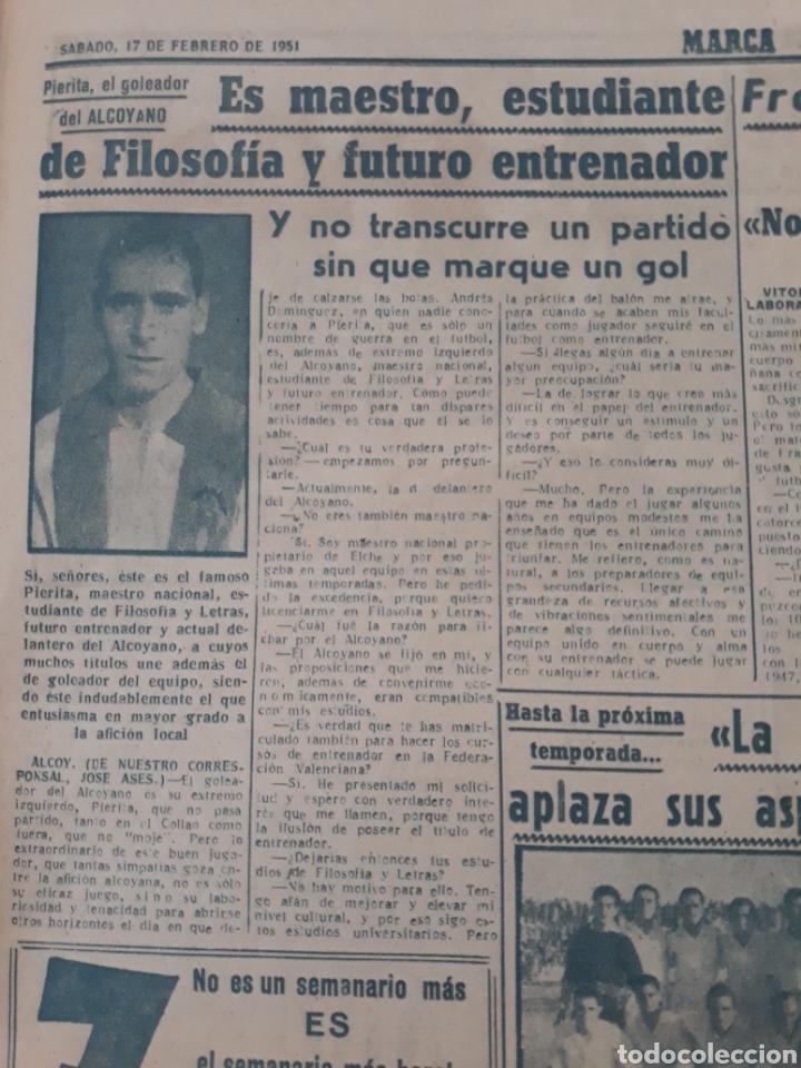 Coleccionismo deportivo: MARCA 17-2-1951 . ESPAÑA - SUIZA . AMISTOSO EN MADRID . BALOMPEDICA LINENSE APLAZA SU ASCENSO A 1°. - Foto 4 - 207500570