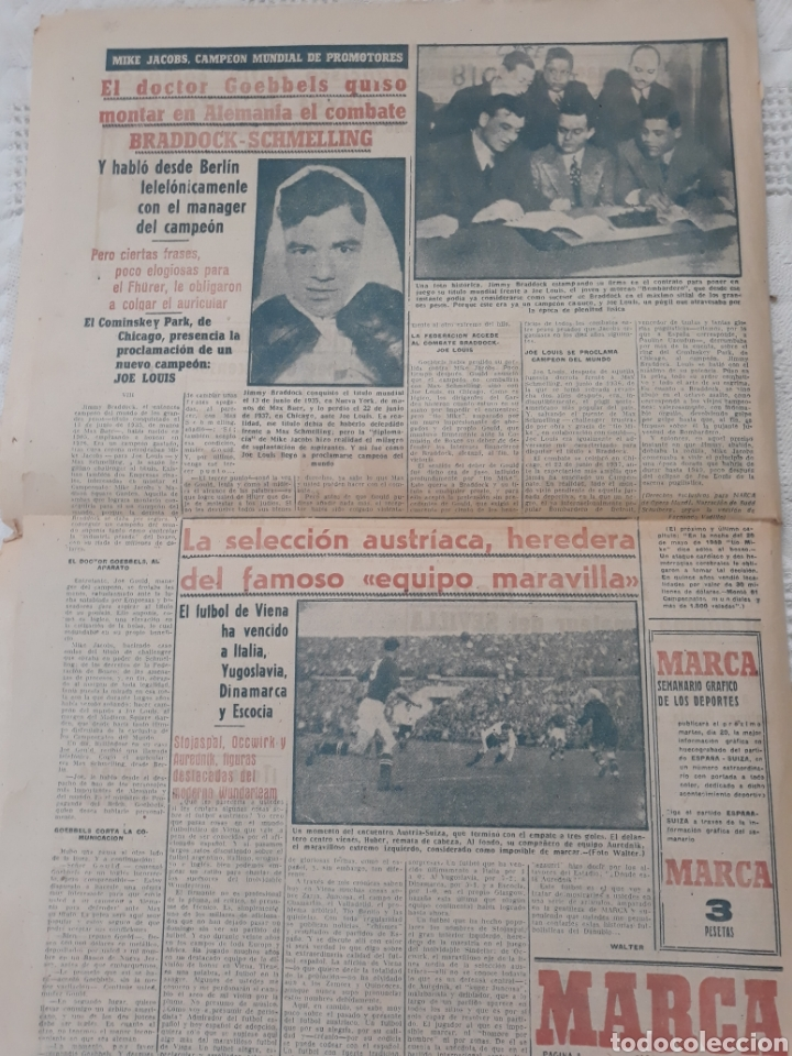 Coleccionismo deportivo: MARCA 17-2-1951 . ESPAÑA - SUIZA . AMISTOSO EN MADRID . BALOMPEDICA LINENSE APLAZA SU ASCENSO A 1°. - Foto 5 - 207500570