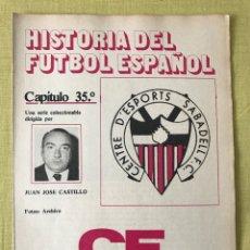 Coleccionismo deportivo: HISTORIA FÚTBOL ESPAÑOL - SABADELL Y ALMERÍA - CAPÍTULO 35 - COLECCIÓN DON BALÓN - AS MARCA. Lote 207544765