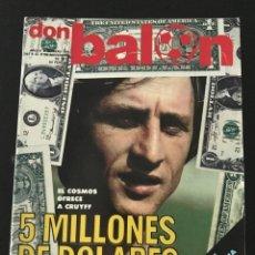 Coleccionismo deportivo: FÚTBOL DON BALÓN 108 - CRUYFF - BARÇA - QUINI - ESPAÑA - BRASIL - PIRRI - BORG. Lote 207552156