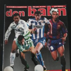 Coleccionismo deportivo: FÚTBOL DON BALÓN 1124 - POSTER CAMINERO - MIJATOVIC - VALENCIA - FIGO - KAHN - MALDINI - C. EUROPEAS. Lote 207555187