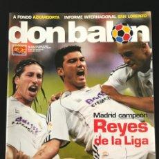 Coleccionismo deportivo: FÚTBOL DON BALÓN 1653 - MADRID CAMPEÓN LIGA POSTER - GETAFE - SEVILLA - COPA - SAN LORENZO - CORO. Lote 207579188