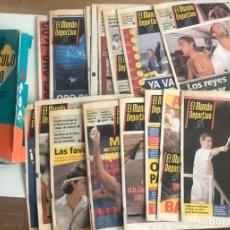 Coleccionismo deportivo: COLECCION EL MUNDO DEPORTIVO DIARO DE LOS JUEGOS OLIMPICOS BARCELONA 92 19 EJEMPLARES TAPA CARTON. Lote 207598776