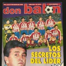 Coleccionismo deportivo: FÚTBOL DON BALÓN 1074 - POSTER RACING - ATLÉTICO - MADRID - VALLADOLID - BUTRAGUEÑO - FINAL RECOPA. Lote 207607478
