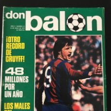 Coleccionismo deportivo: FÚTBOL DON BALÓN 37 - CRUYFF - BARCELONA - QUINI SPORTING - MIGUELI - MULLER - AS MARCA ALBUM. Lote 207620517