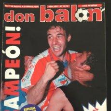 Coleccionismo deportivo: FÚTBOL DON BALÓN 1076 - ATLÉTICO CAMPEÓN LIGA POSTER - CRUYFF - LOGROÑÉS - FINAL CHAMPIONS. Lote 207622151
