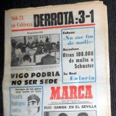 Colecionismo desportivo: DIARIO MARCA PERIÓDICO ABRIL AÑO 1981 FÚTBOL VINTAGE - MORAN REAL BETIS - LUIS DE CARLOS REAL MADRID. Lote 207657710
