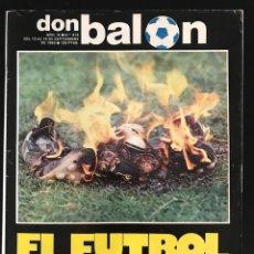 Coleccionismo deportivo: FÚTBOL DON BALÓN 414 - CARRETE - BARÇA - MADRID - ARTECHE ATLÉTICO - SPORTING ZARAGOZA - ARAGONÉS. Lote 207793912