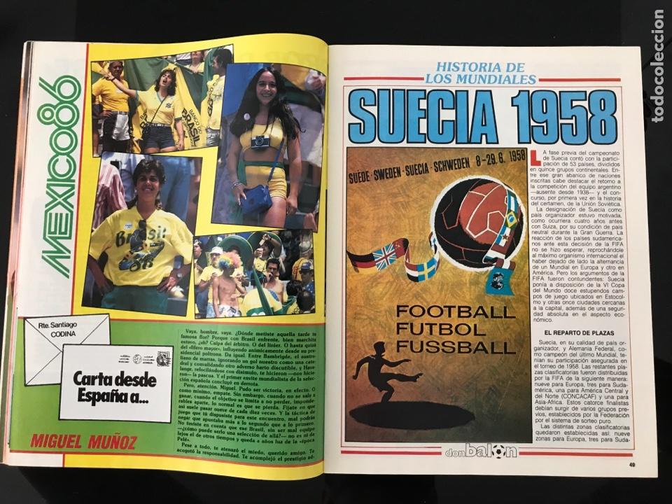Coleccionismo deportivo: Fútbol don balón 556 - España México 86 - Historia Suecia 58 Chile 62 - Barça - Jerez - Salinas - Foto 5 - 207819832