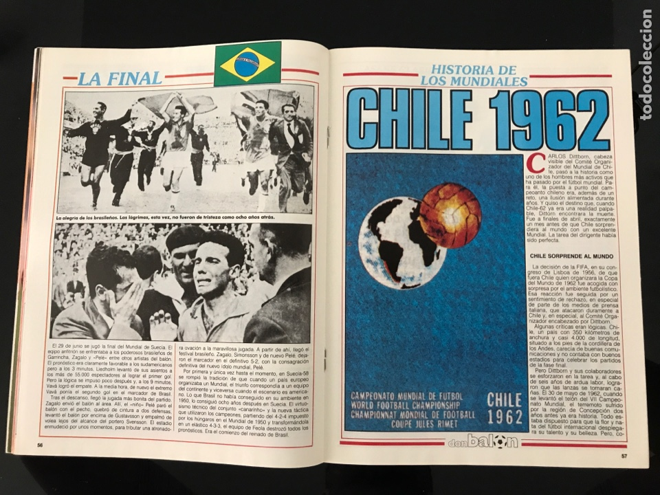 Coleccionismo deportivo: Fútbol don balón 556 - España México 86 - Historia Suecia 58 Chile 62 - Barça - Jerez - Salinas - Foto 6 - 207819832