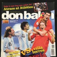 Coleccionismo deportivo: FÚTBOL DON BALÓN 1723 - POSTER NAVAS SEVILLA - ATLÉTICO - MESSI - GIGGS - BUSQUETS ESPAÑA MENDI. Lote 207820810