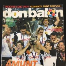 Coleccionismo deportivo: FÚTBOL DON BALÓN 1493 - VALENCIA CAMPEÓN UEFA POSTER - ESPAÑA EUROCOPA 64 - RIQUELME ALBUM AS MARCA. Lote 207842595